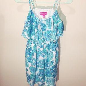 Blue LillyPulitzer Starfish Sand Dollar Tier Dress